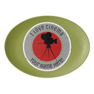 I love Cinema Porcelain Serving Platter
