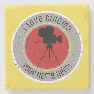 I love Cinema Stone Coaster