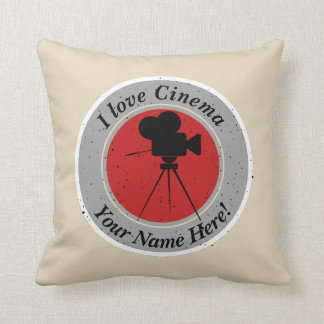 I love Cinema Throw Pillow