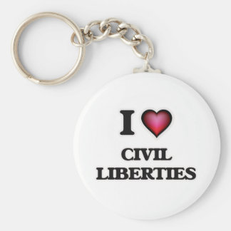 I love Civil Liberties Keychain