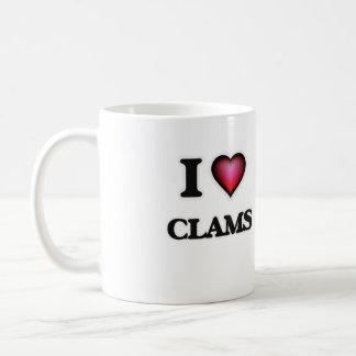 I Love Clams Coffee Mug