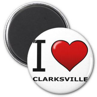 I LOVE CLARKSVILLE,TN - TENNESSEE 2 INCH ROUND MAGNET