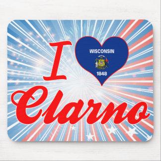 I Love Clarno, Wisconsin Mousepad
