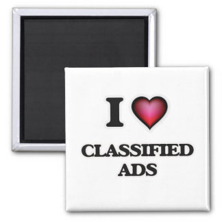 I love Classified Ads Magnet