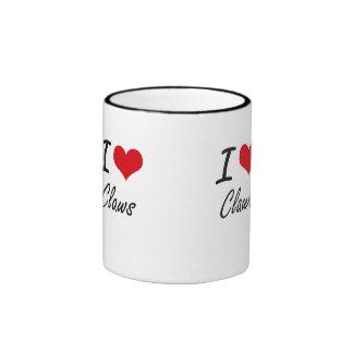 I love Claws Artistic Design Ringer Mug