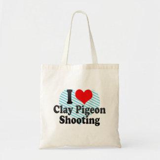 I love Clay Pigeon Shooting Tote Bag