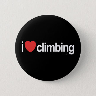 I Love Climbing 2 Inch Round Button
