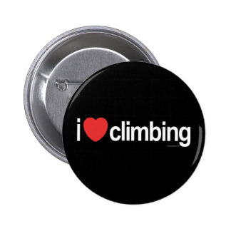 I Love Climbing 2 Inch Round Button
