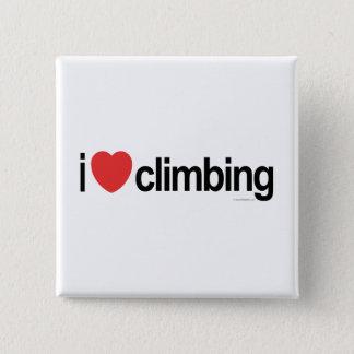 I Love Climbing 2 Inch Square Button