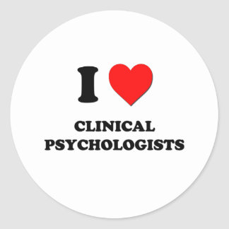 I Love Clinical Psychologists Classic Round Sticker