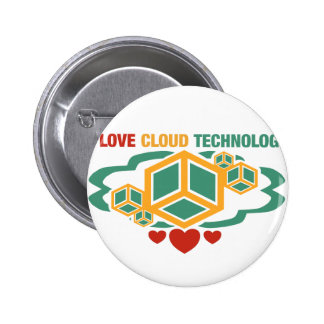 I Love Cloud Technology 2 Inch Round Button