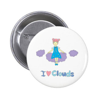 I Love Clouds 2 Inch Round Button