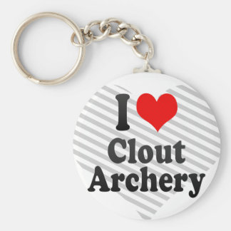 I love Clout Archery Keychain
