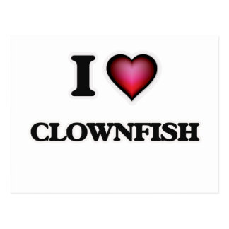 I Love Clownfish Postcard