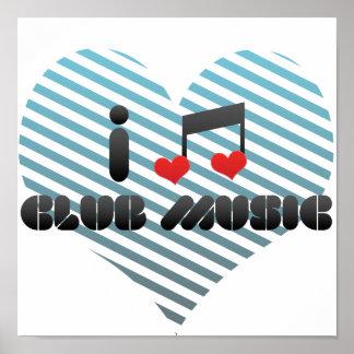 I Love Club Music Print