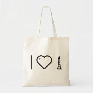 I Love Cn Tower Tote Bag
