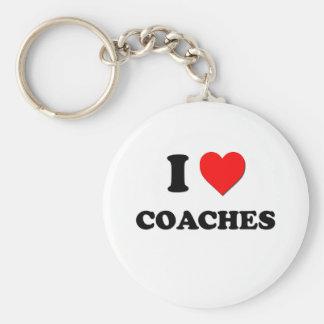 I love Coaches Basic Round Button Keychain