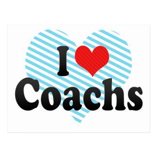 I Love Coachs Postcard