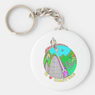 I LOVE Coasters Keychain