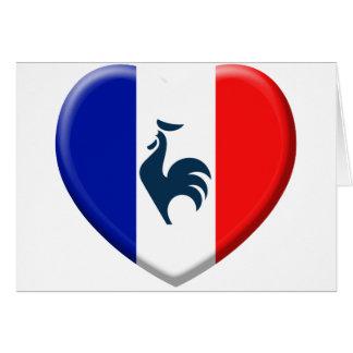 I love cock France flag Card