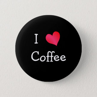 I Love Coffee 2 Inch Round Button