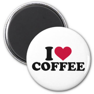I love coffee 2 inch round magnet