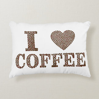 I Love Coffee Accent Pillow