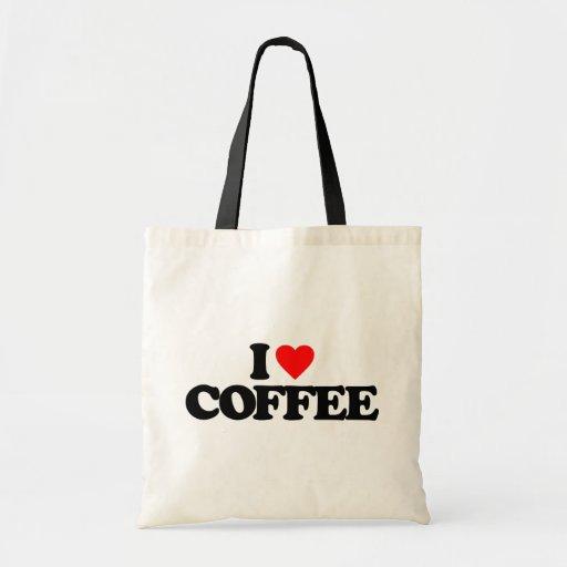 I LOVE COFFEE CANVAS BAGS