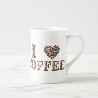 I Love Coffee Beans Typography Mug