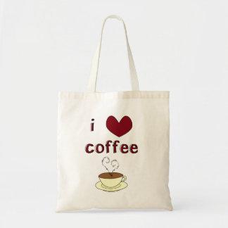 I Love Coffee Budget Tote Bag