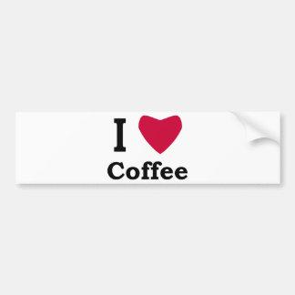 I Love Coffee Bumper Sticker