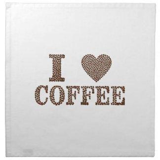 i love coffee ,coffeeholic napkin