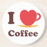 I Love Coffee. Drink Coasters