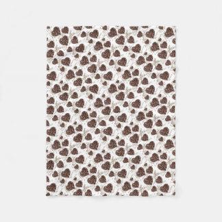 I Love Coffee!! Fleece Blanket