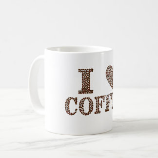 I Love Coffee In Beans Value Mug