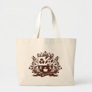 I love coffee large tote bag