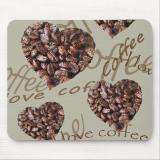 I Love Coffee!! Mouse Pad