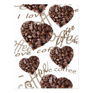 """I Love Coffee!"" Postcard"