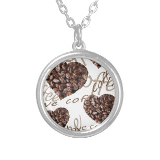I Love Coffee!! Silver Plated Necklace