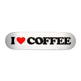 I LOVE COFFEE SKATE BOARD DECK