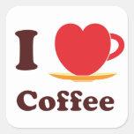 I Love Coffee. Sticker