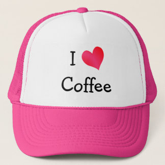 I Love Coffee Trucker Hat