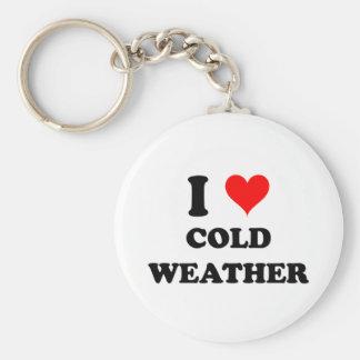 I Love Cold Weather Keychain