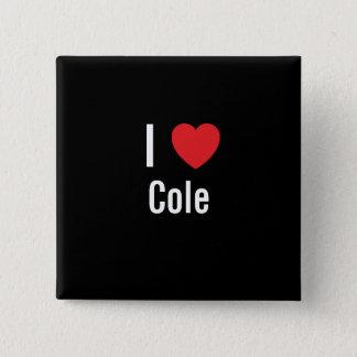 I love Cole 2 Inch Square Button