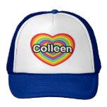 I love Colleen: rainbow heart Mesh Hats