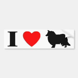 I Love Collies Bumper Sticker