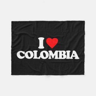 I LOVE COLOMBIA FLEECE BLANKET