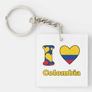 I love Colombia Keychain