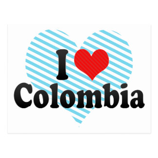 I Love Colombia Postcard