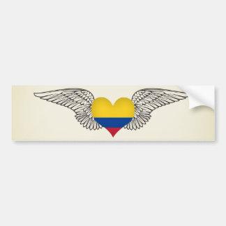 I Love Colombia -wings Bumper Sticker
